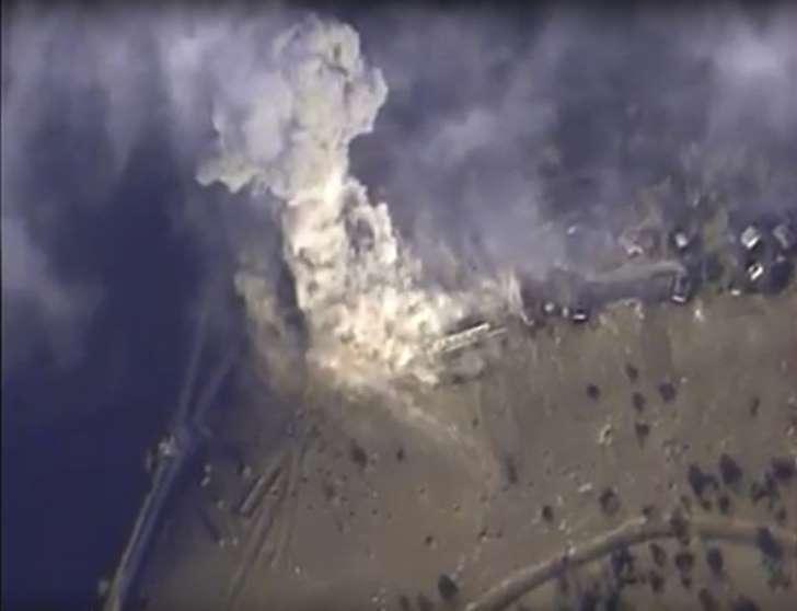 russian warplanes bomb Palmyra