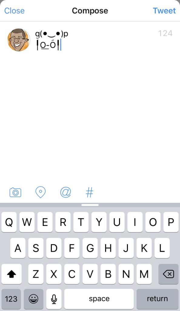 Unicode Faces keyboard