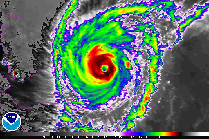 Cyclone Chapala satellite image