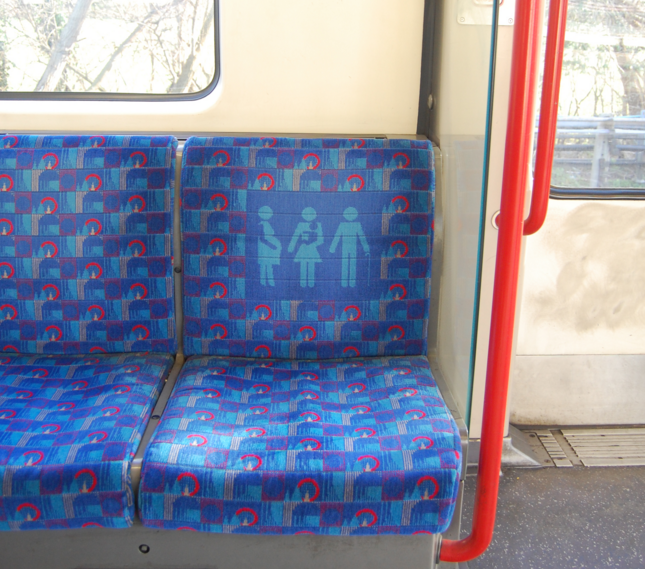 Priority seat on the Tube