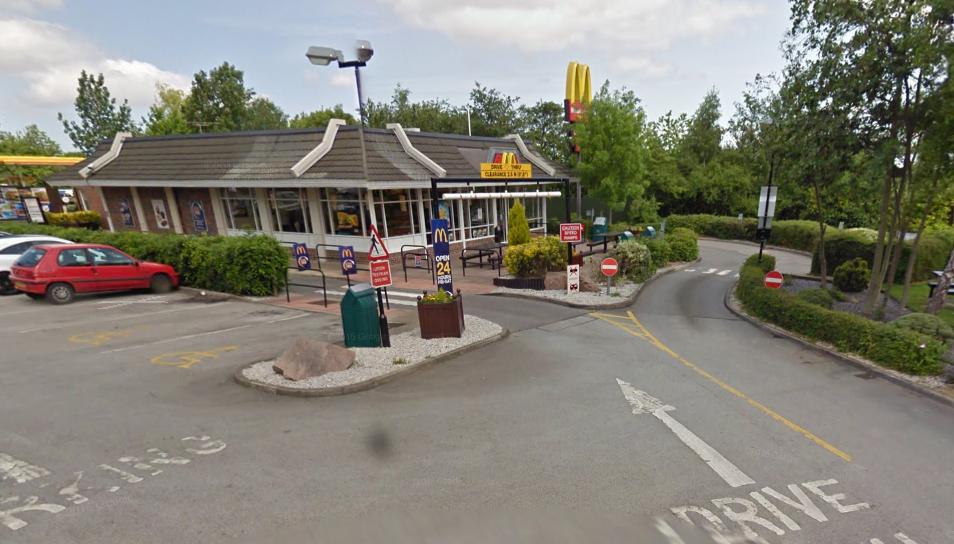McDonald's on the A55 near Flintshire