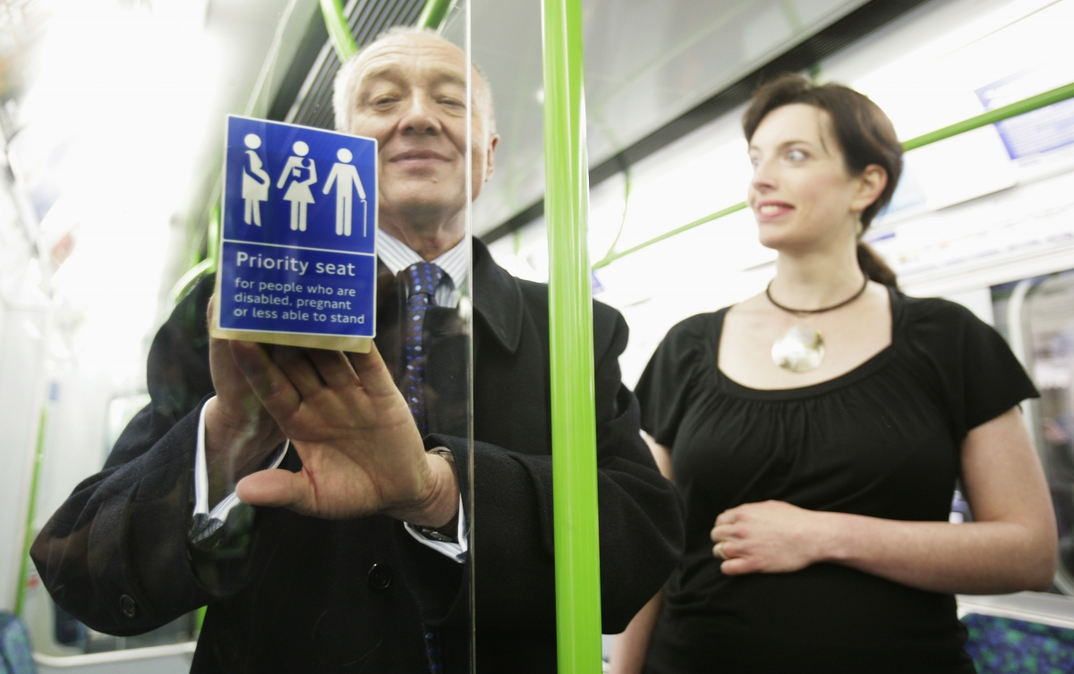 Ken Livingstone announces Tube priority seating for pregnant women
