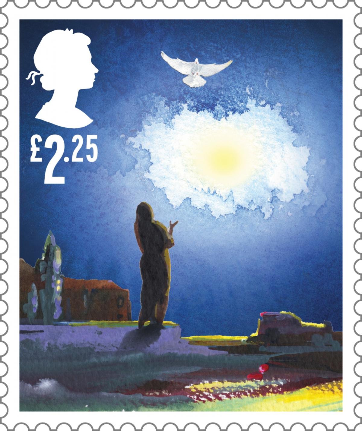 royal mail christmas stamp mary angel