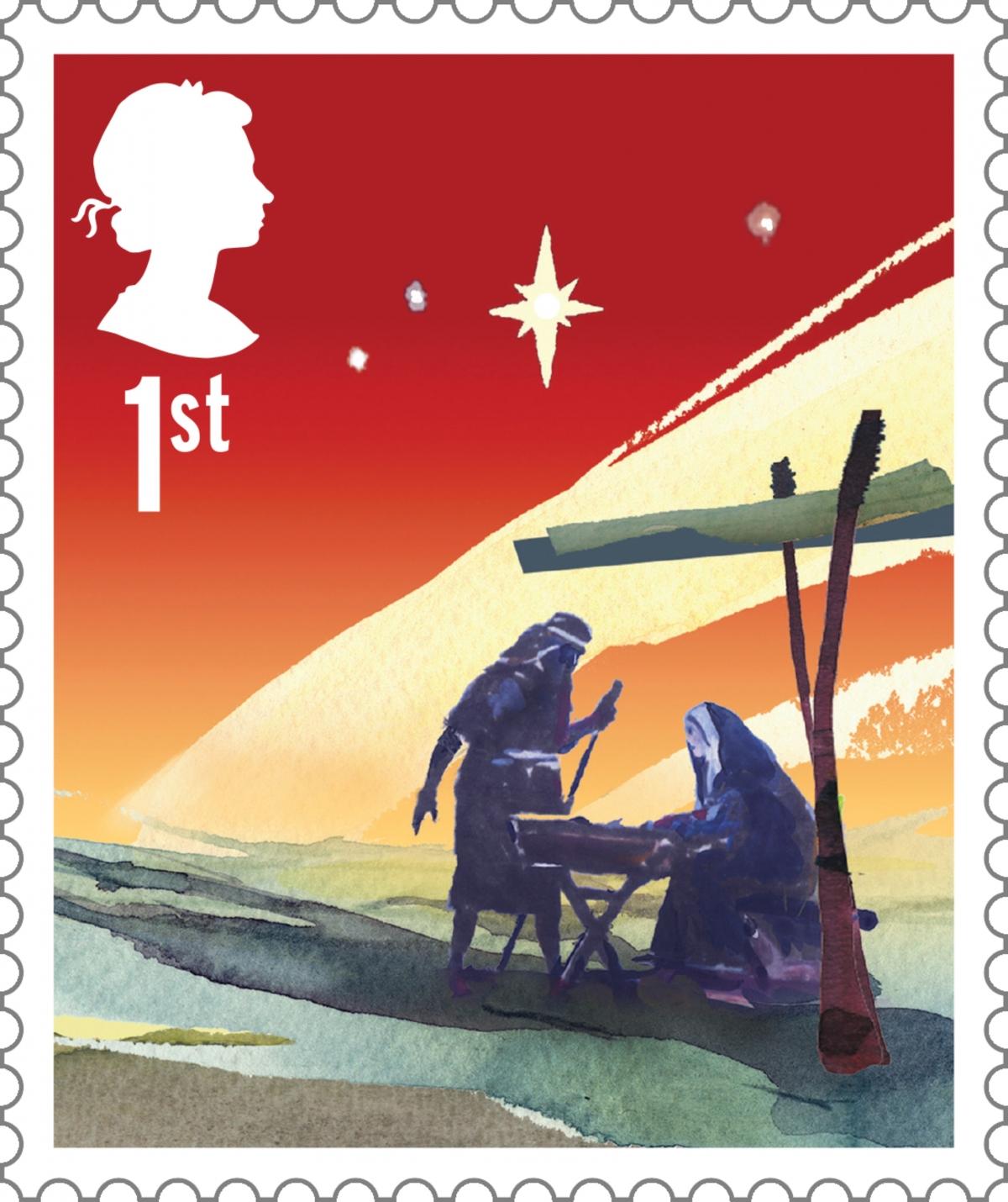 royal mail stamp nativity christmas