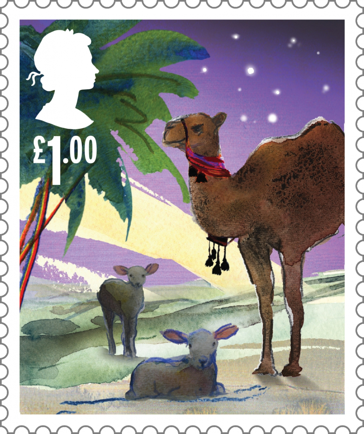 animals christmas royal mail nativity