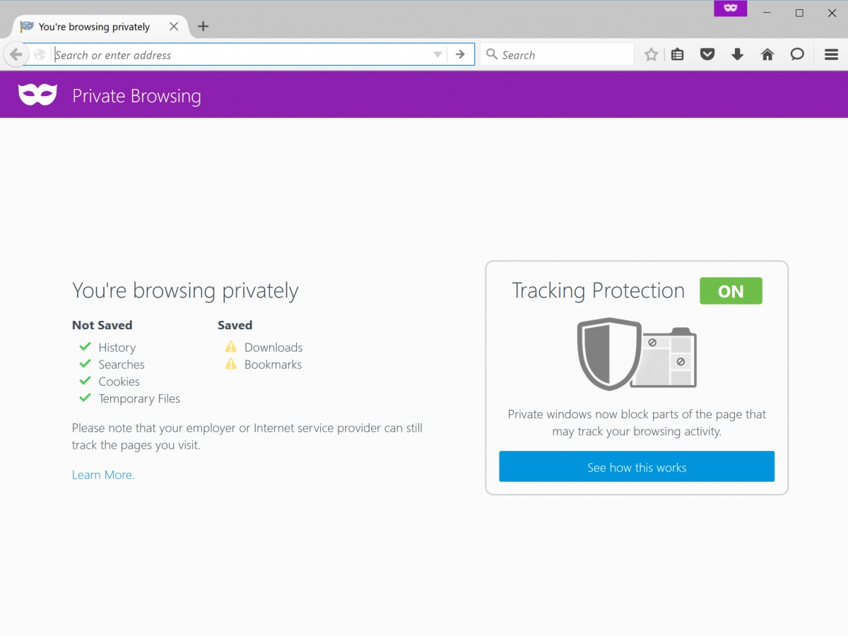 Firefox Tracking Protection feature