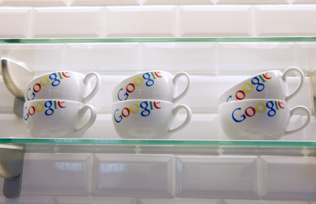 Google logo at the Google France offices in 2011