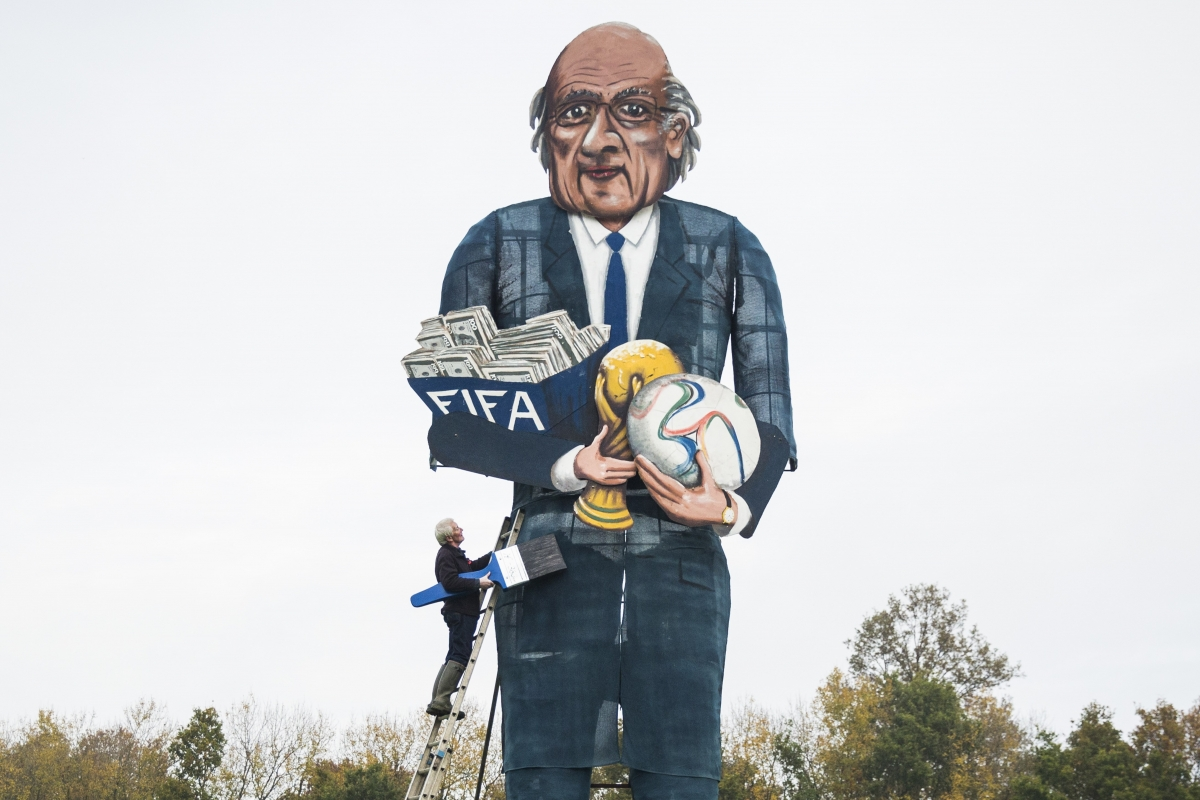 Effigy of Sepp Blatter for Bonfire Night