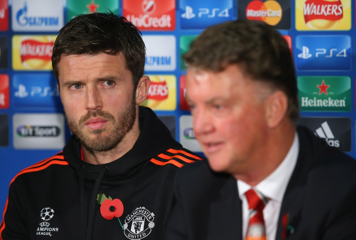 Michael Carrick & Louis van Gaal