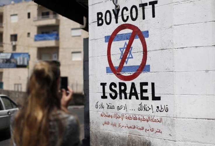 BDS sign in the West Bank