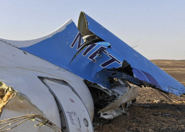 Remains of the Russian passenger plane that