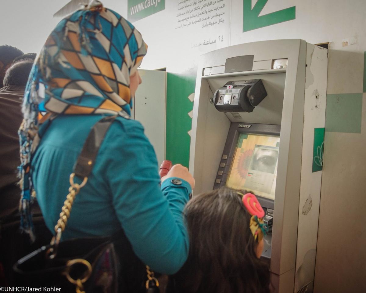 Iris scanning at a bank in Jordan