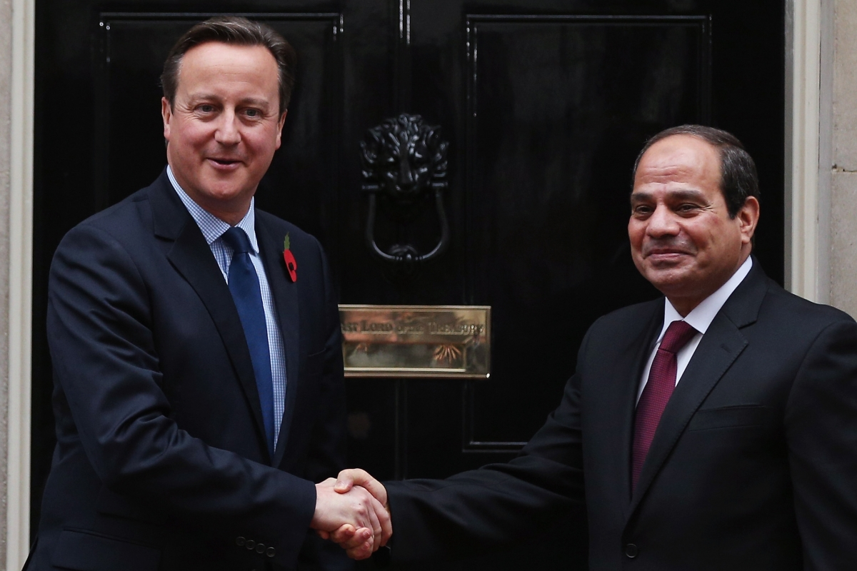Cameron greets Sisi