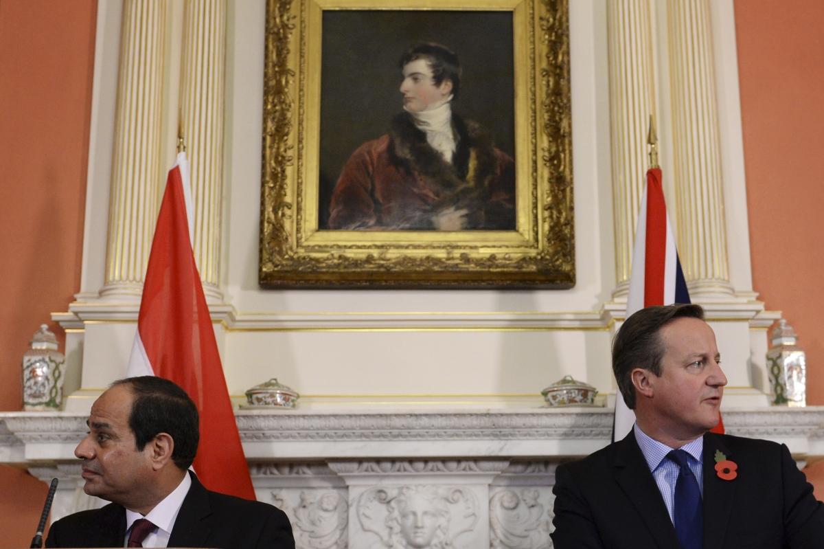 David Cameron Egypt's President Abdel Fattah al-Sisi