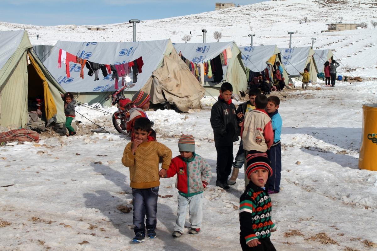 Syrian children refugee camp