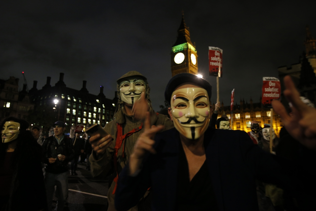 Anonymous supporters, London