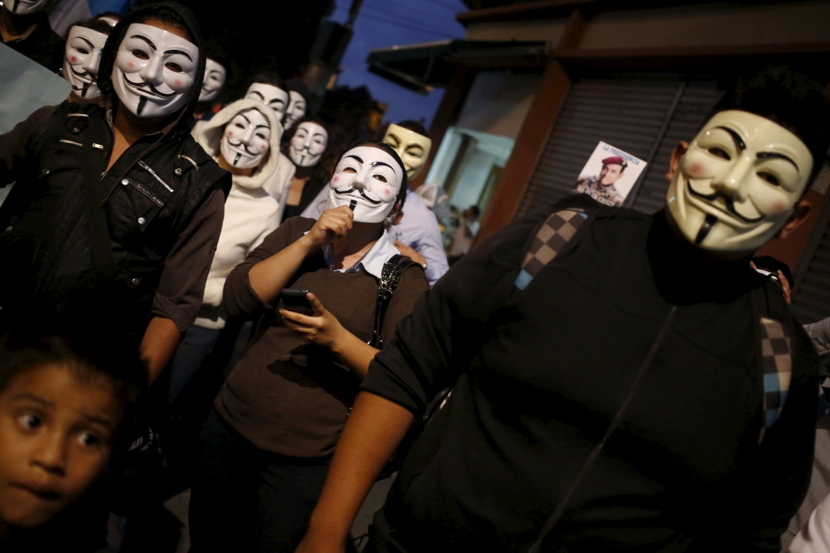Anonymous supporters, Guatemala City