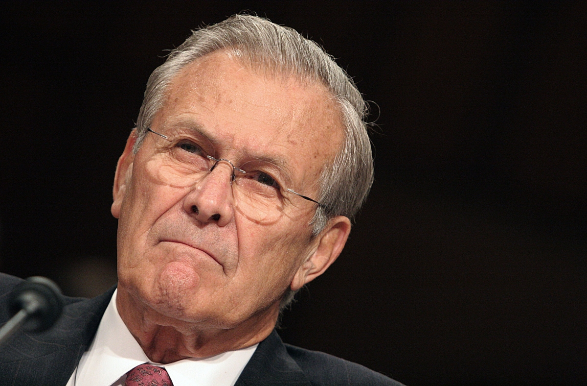 Former US Defence Secretary Donald Rumsfeld