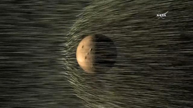 Mars' missing atmosphere