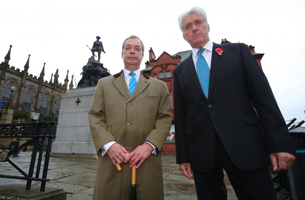 Nigel Farage and John Bickley