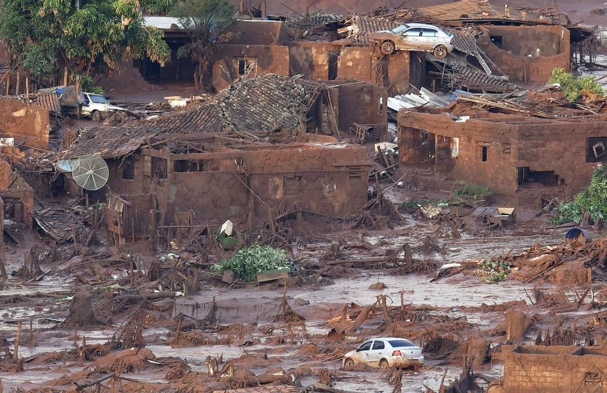 The devastated town of Bento Rodrigues