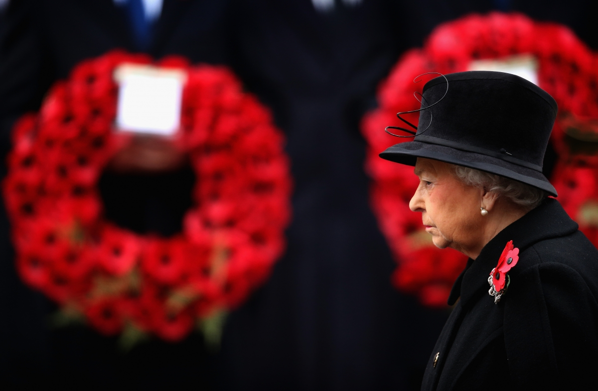 Queen on Remembrance Sunday 2014