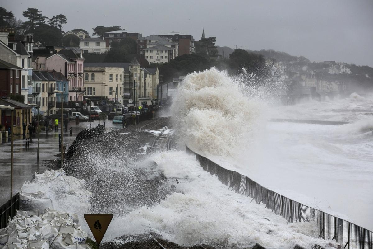 Storms batter Devon coastline