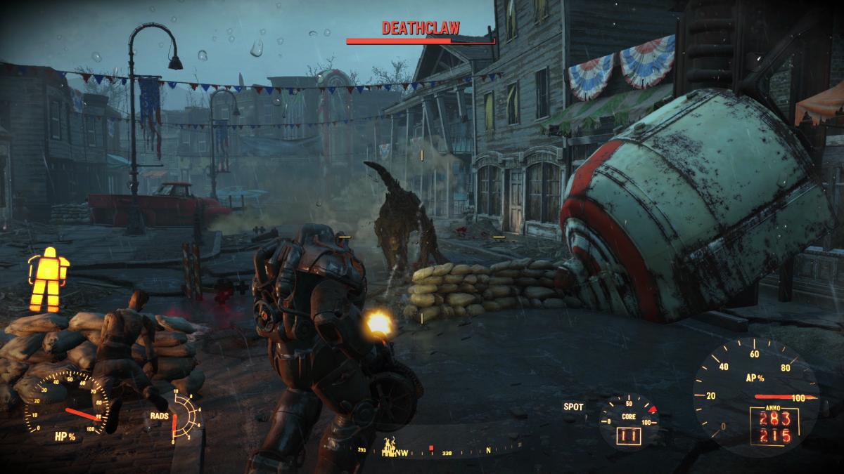 Fallout 4 power armour deathclaw