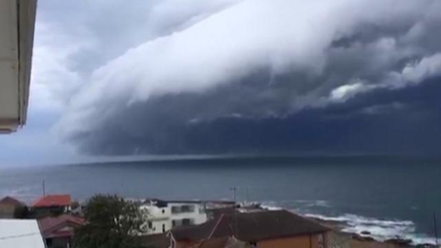 Storm over Australia