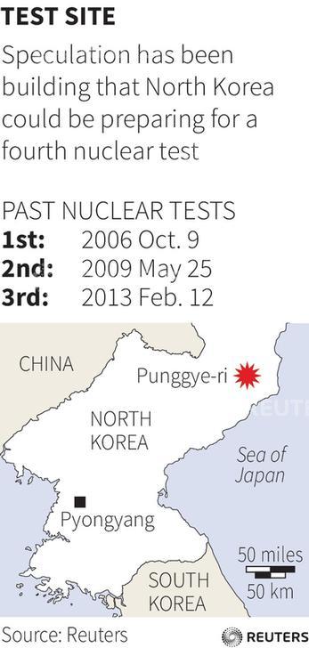 North Korea nuclear map