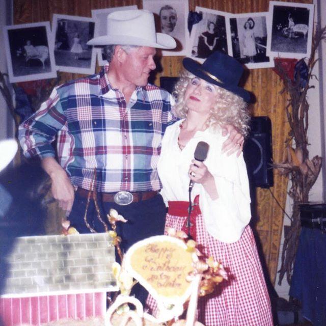 Hillary Clinton as Dolly Parton