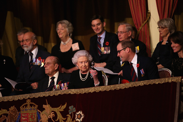 The Queen Leads Senior Royals In Festival Of Remembrance