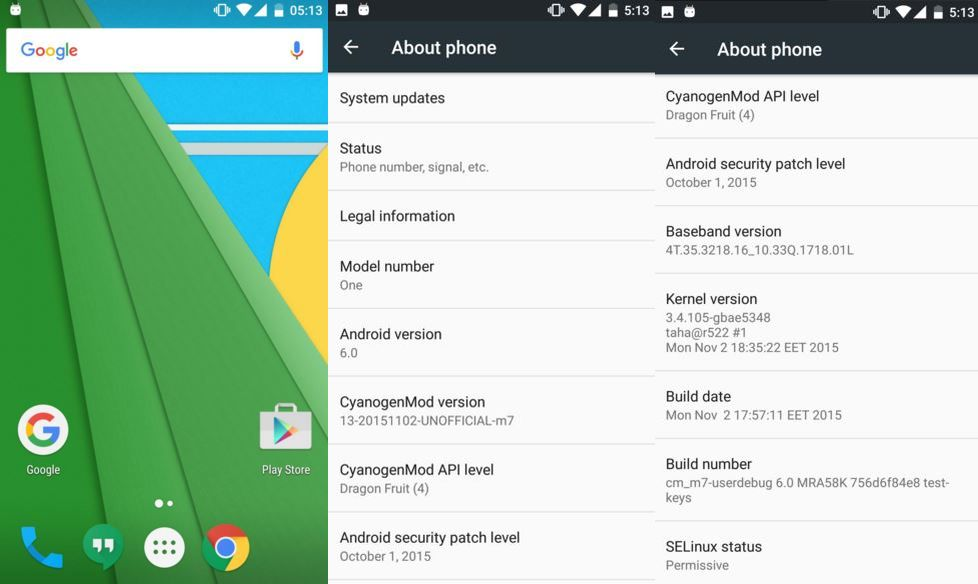 Android Marshmallow for HTC One M7