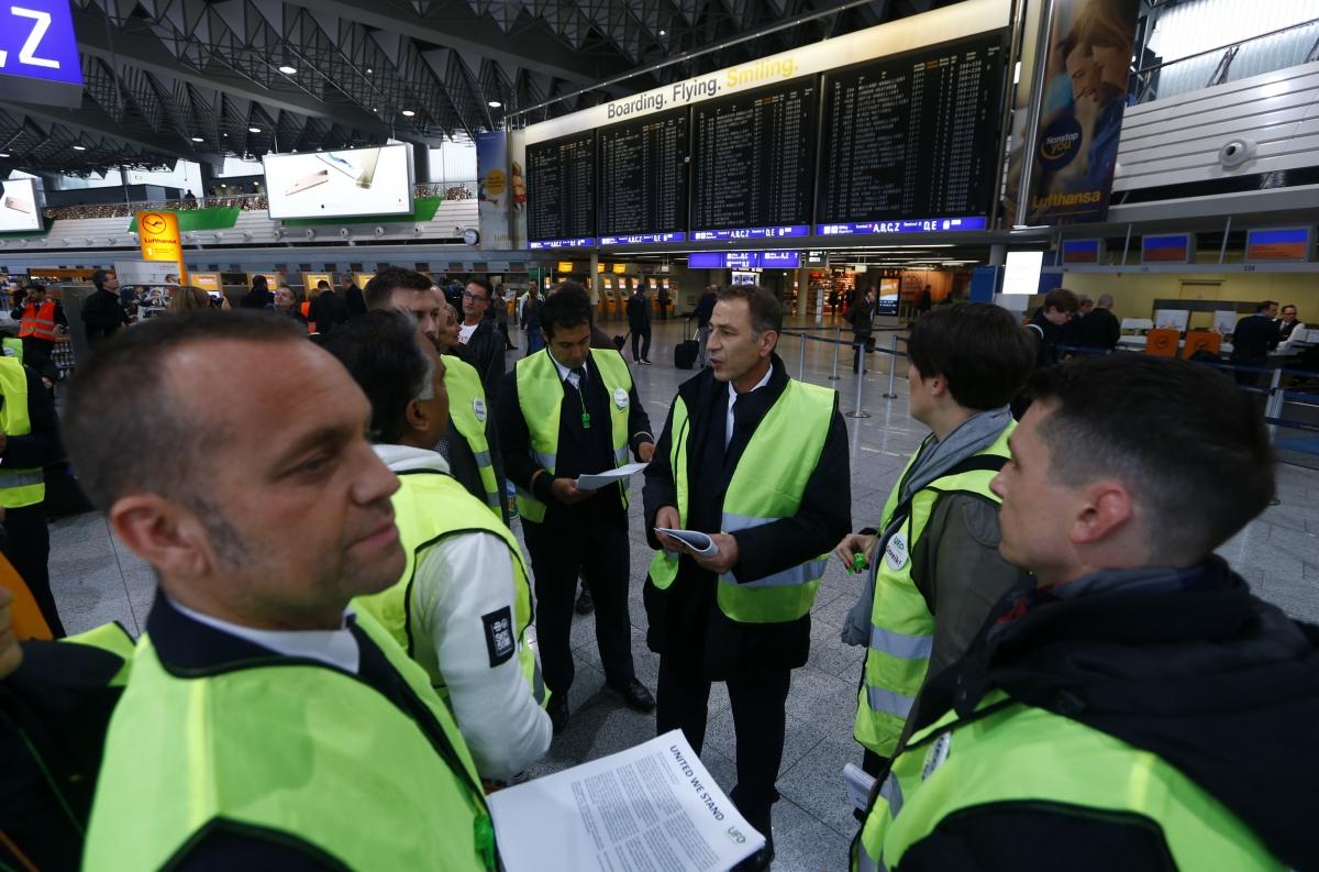 Lufthansa strike action