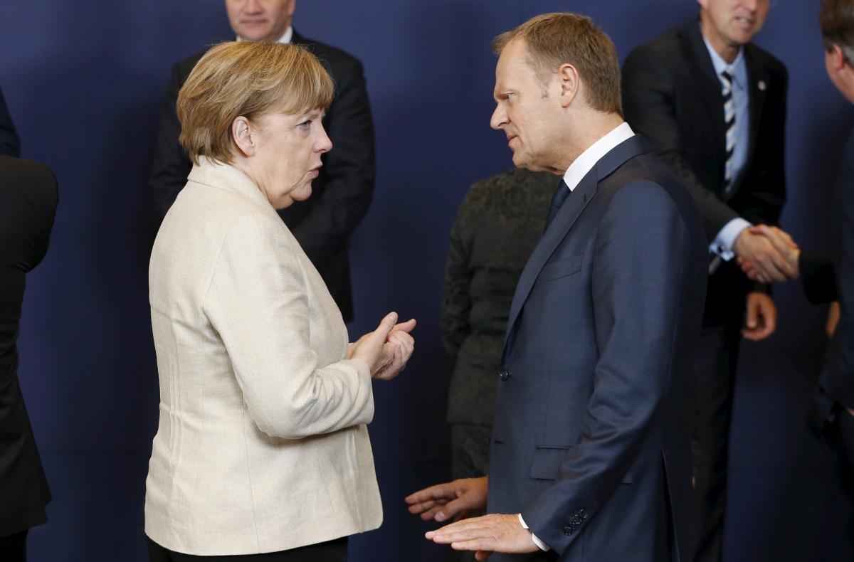 Angela Merkel and Donald Tusk