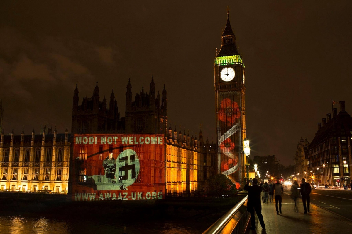 Modi Not Welcome on British Parliament