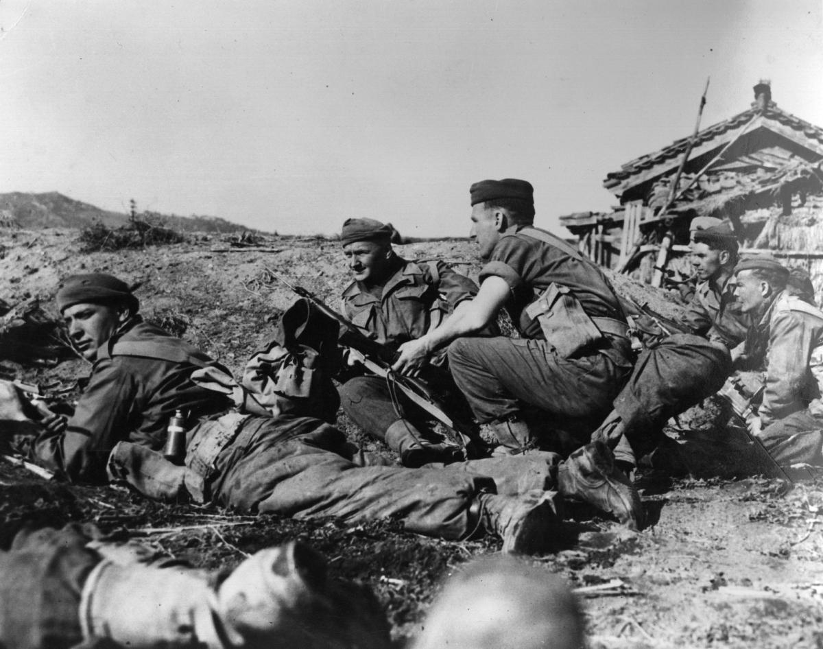 Korean War British troops