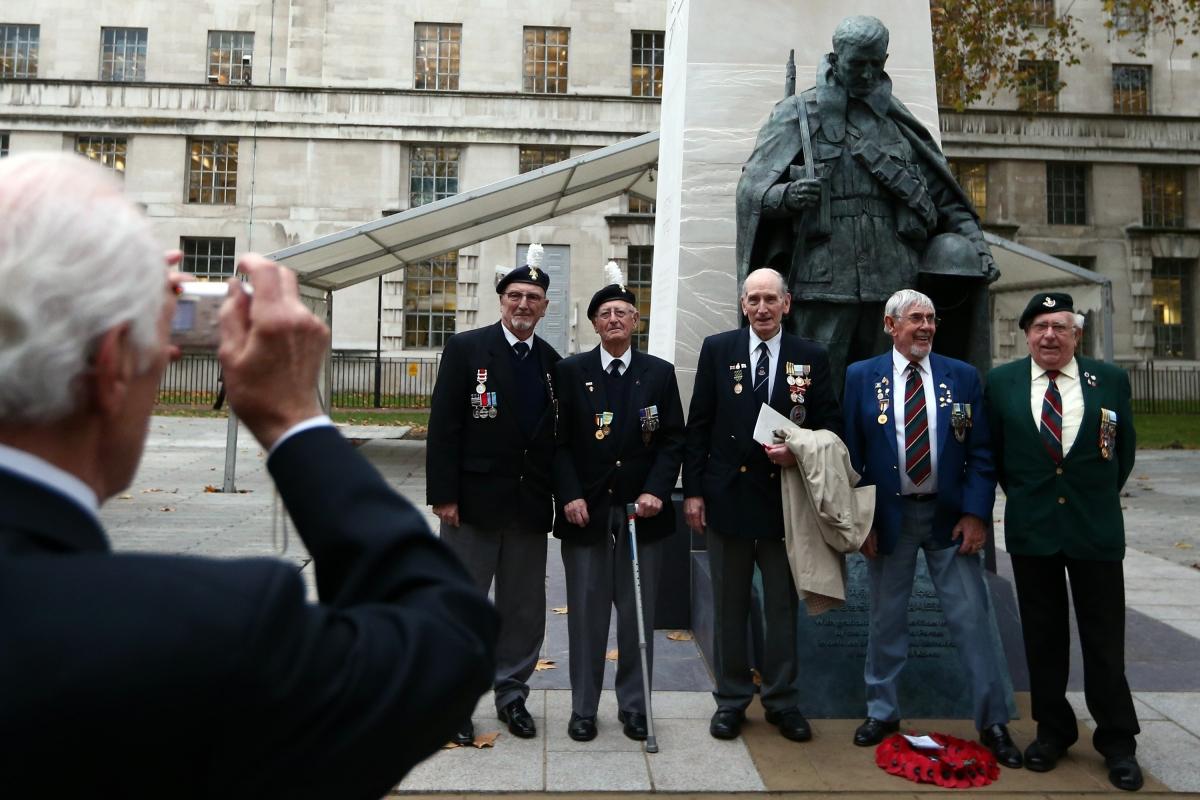 Korean War British veterans memorial