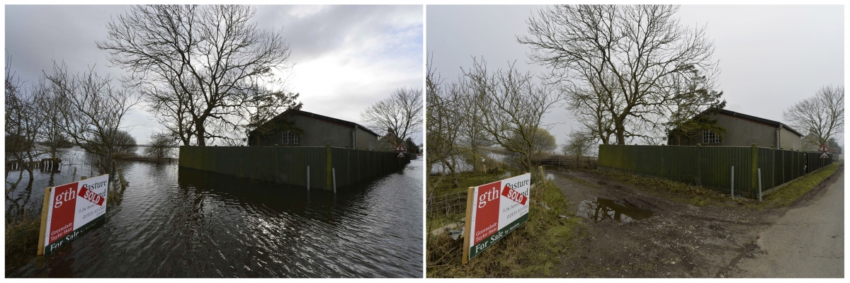 Before after flooding picture