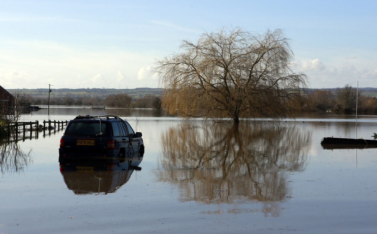 car flooding somerset