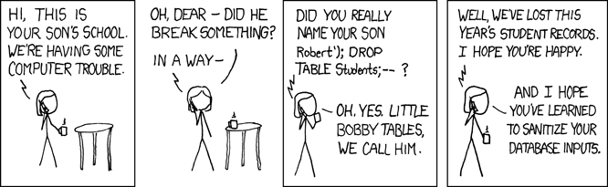 XKCD's Exploits of a Mum comic
