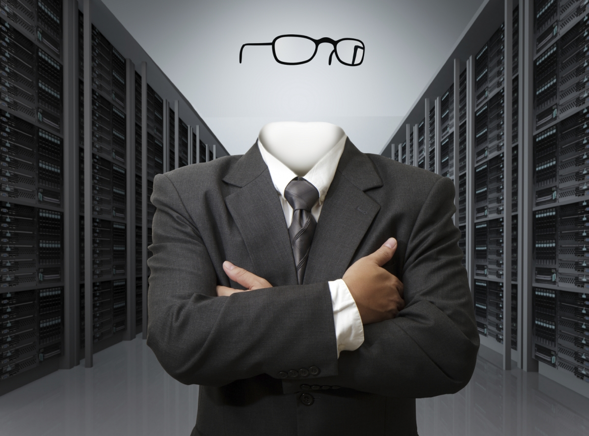 An invisible man in a data centre