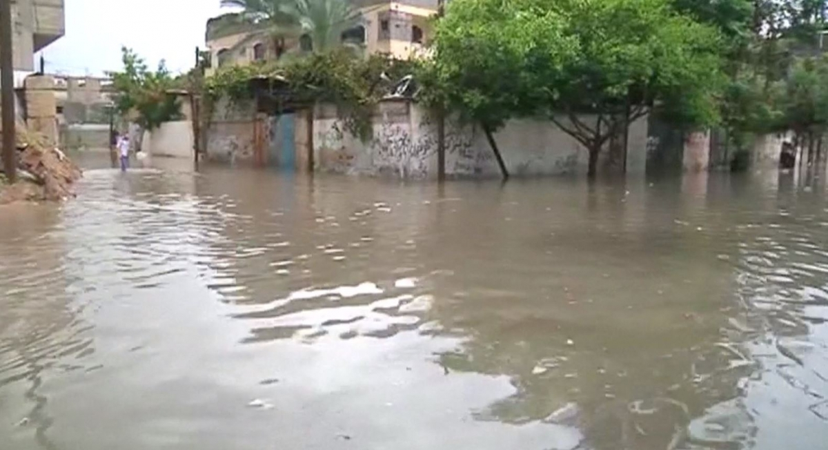 Residents rescued from flooded streets as storms batter Middle East