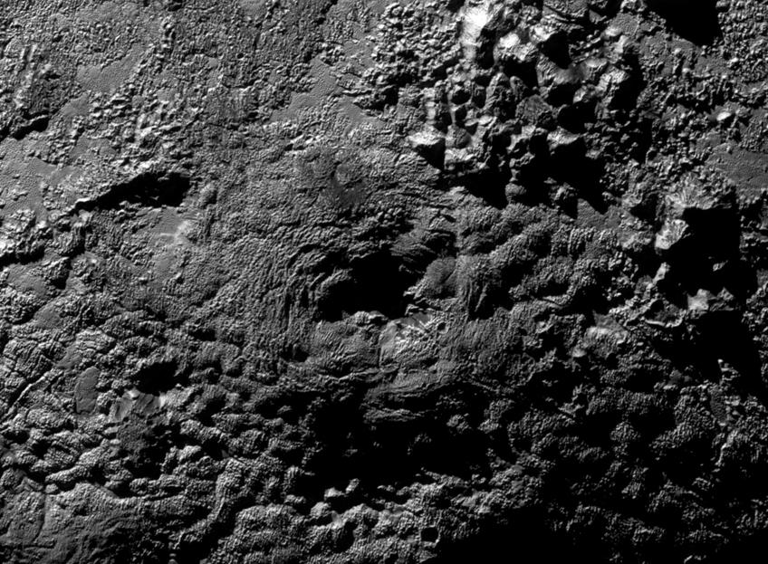 Pluto ice volcanoes