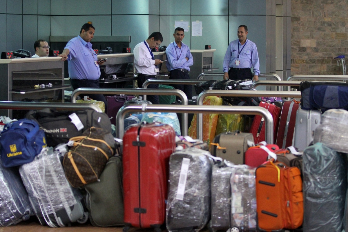 baggage at Sharm el-Sheikh airport