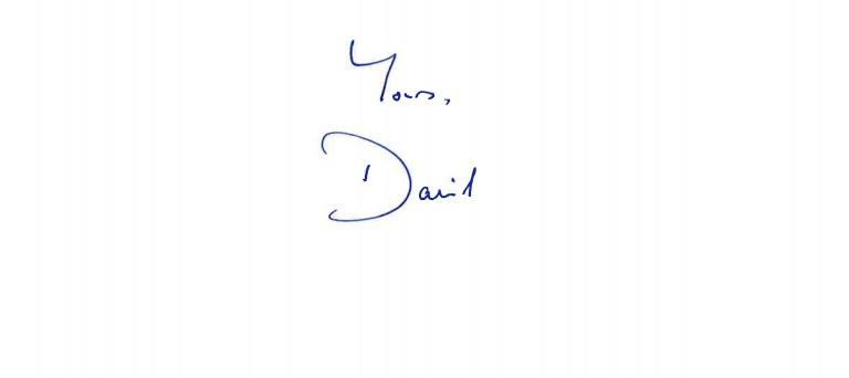 David Cameron letter