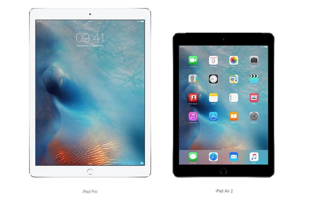 iPad Pro vs iPad Air 2