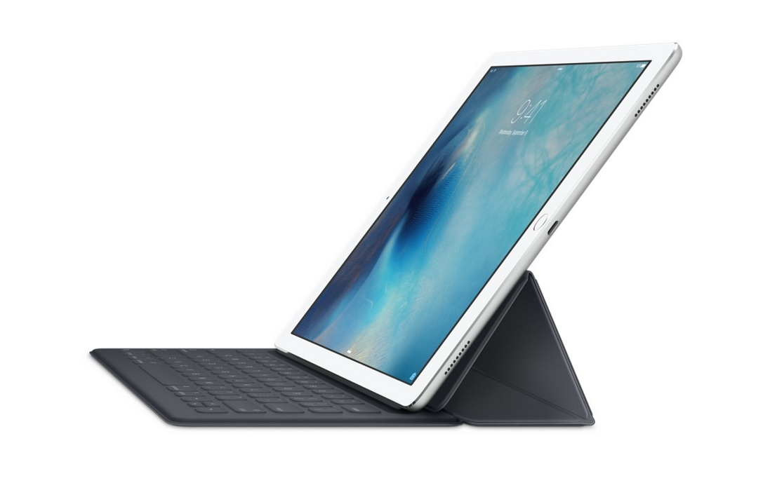iPad Pro with keyboard case