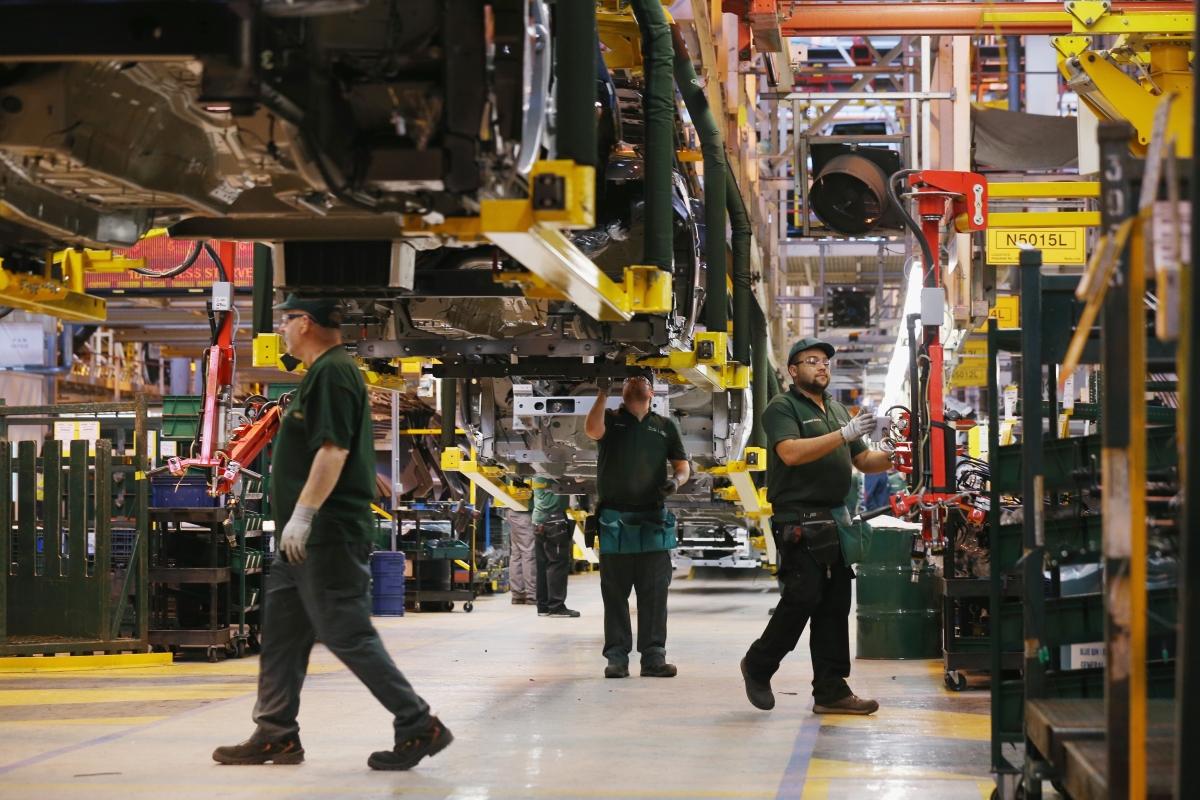 Factory floor in the UK