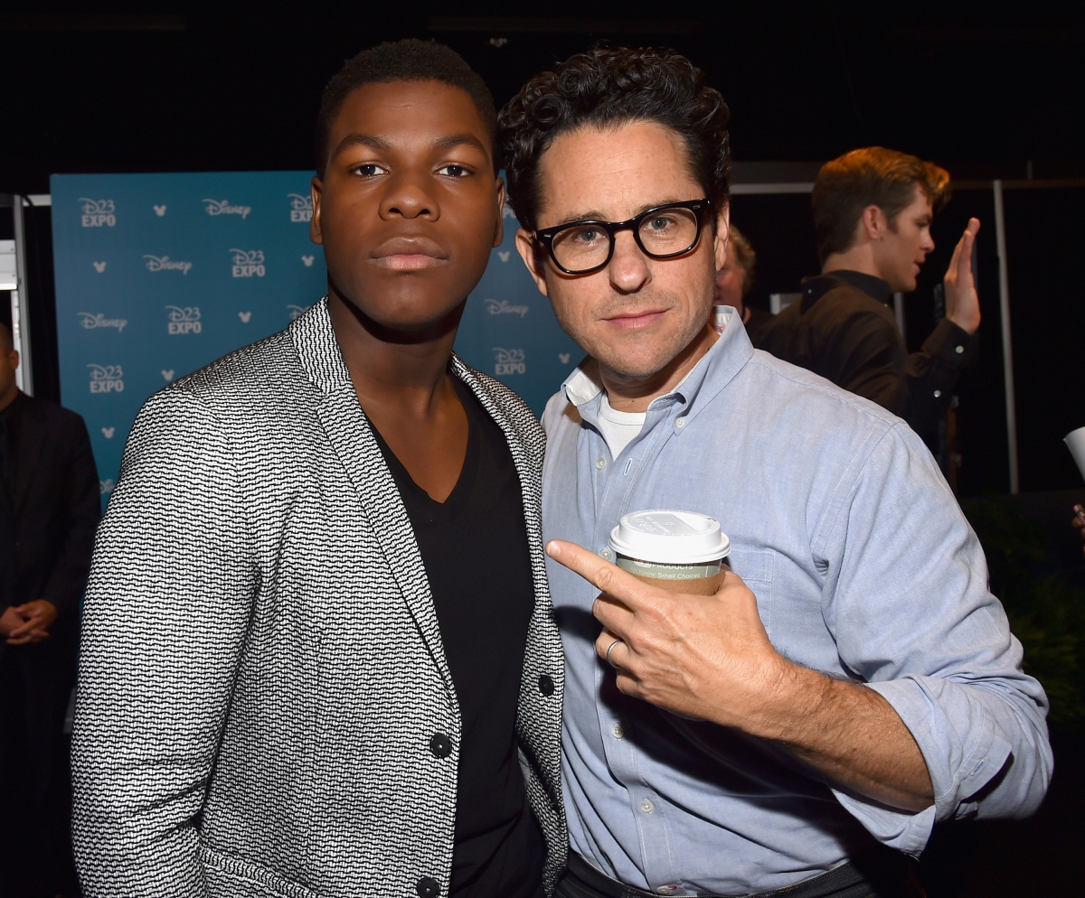 J.J. Abrams and John Boyega